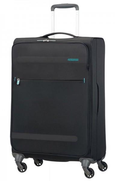 American Tourister Herolite M Volcanic Black cestovní kufr 67 cm 1,99 kg