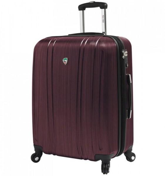 Mia Toro M1093 Acciaio L Burgundy cestovní kufr na 4 kolečkách TSA 77 cm 102-127 l