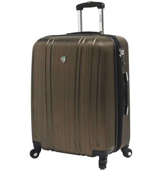 Mia Toro M1093 Acciaio L Gold cestovní kufr na 4 kolečkách TSA 77 cm 102-127 l