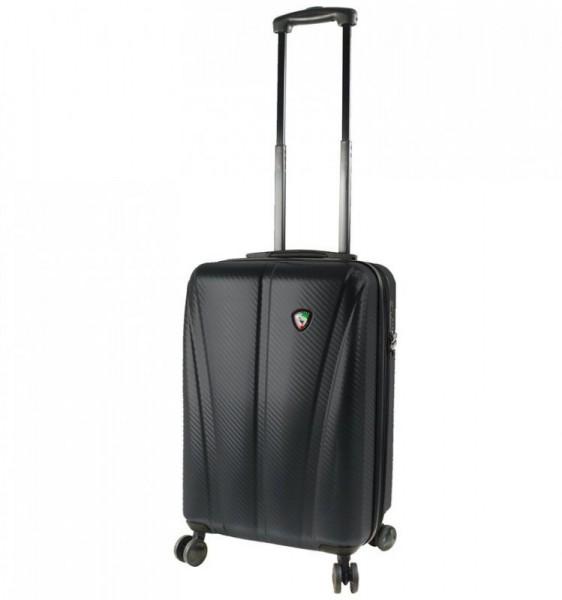 Mia Toro M1238 Usini S Black cestovní kufr na 4 kolečkách TSA 57 cm 39-49 l