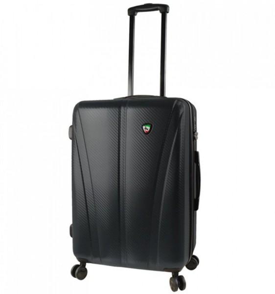 Mia Toro M1238 Usini M Black cestovní kufr na 4 kolečkách TSA 67 cm 67-77 l