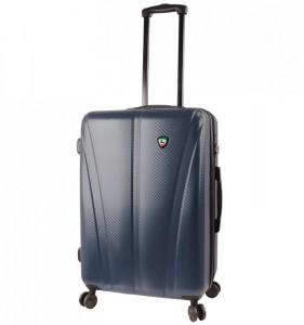 Mia Toro M1238 Usini M Navy cestovní kufr na 4 kolečkách TSA 67 cm 67-77 l