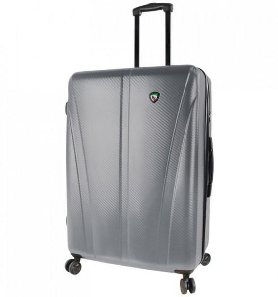 Mia Toro M1238 Usini L Silver cestovní kufr na 4 kolečkách TSA 77 cm 91-113 l