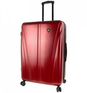 Mia Toro M1238 Usini L Burgundy cestovní kufr na 4 kolečkách TSA 77 cm 91-113 l
