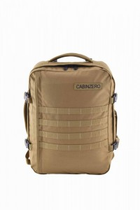 CabinZero Military 36L Desert Sand ultra-light palubní batoh-taška 46x33x16 cm