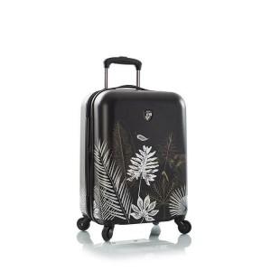 Heys Oasis S Black/Gold Leaf polykarbonátový palubní cestovní kufr TSA 53 cm 52 l