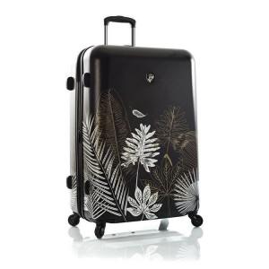 Heys Oasis L Black/Gold Leaf polykarbonátový cestovní kufr TSA 76 cm 132 l