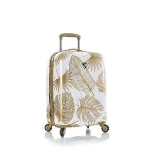 Heys Oasis S White/Gold Leaf polykarbonátový palubní cestovní kufr TSA 53 cm 52 l