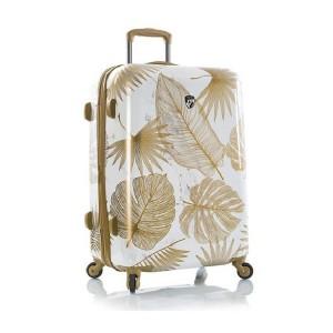 Heys Oasis L White/Gold Leaf polykarbonátový cestovní kufr TSA 76 cm 132 l
