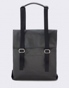 Batoh Qwstion Small Tote Organic Jet Black