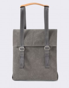 Batoh Qwstion Small Tote Organic Washed Grey
