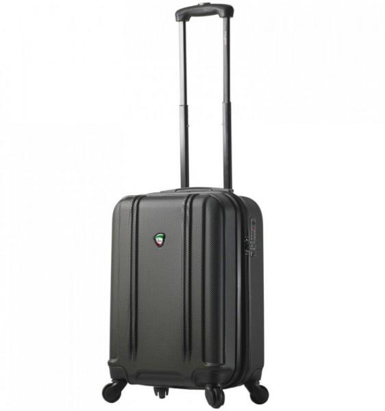 Mia Toro M1210 Baggi S Black palubní cestovní kufr na 4 kolečkách TSA 55x36x23 cm 35-43 l