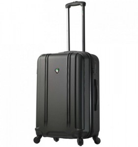 Mia Toro M1210 Baggi M Black skořepinový cestovní kufr na 4 kolečkách TSA 67 cm 62-77 l