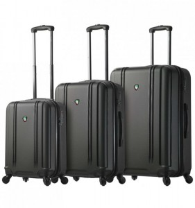 Mia Toro M1210 Baggi S/M/L Black sada skořepinových cestovních kufrů TSA 55/67/77 cm
