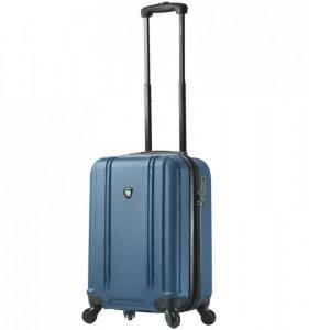 Mia Toro M1210 Baggi S Blue palubní cestovní kufr na 4 kolečkách TSA 55x36x23 cm 35-43 l
