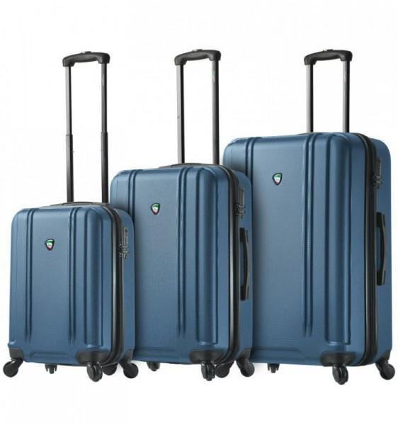 Mia Toro M1210 Baggi S/M/L Blue sada skořepinových cestovních kufrů TSA 55/67/77 cm