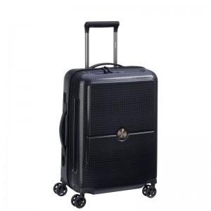 Delsey Turenne 4dw Cabin Slim S Black luxusní palubní kufr TSA 55 cm