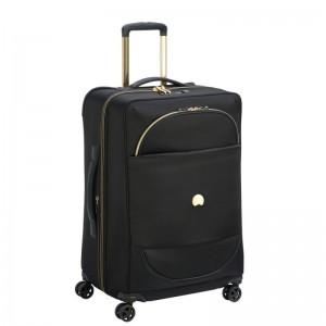 Delsey Montrouge 4dw M Black luxusní cestovní kufr TSA 69 cm 75 l