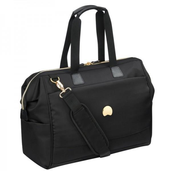 Delsey Montrouge Reporter Bag Black stylová palubní cestovní taška 50,5 cm PC 15,6″