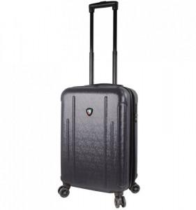 Mia Toro M1239 Manta S Black cestovní kufr na 4 kolečkách TSA 57 cm 39-49 l