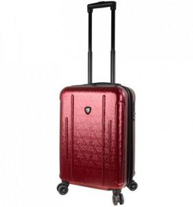 Mia Toro M1239 Manta S Burgundy cestovní kufr na 4 kolečkách TSA 57 cm 39-49 l