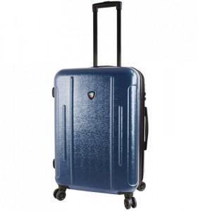 Mia Toro M1239 Manta M Navy cestovní kufr na 4 kolečkách TSA 67 cm 66-82 l