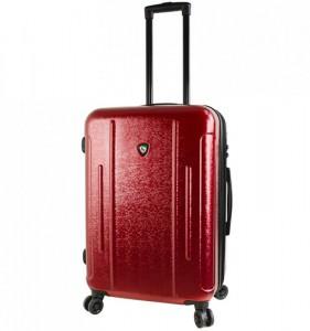 Mia Toro M1239 Manta M Burgundy cestovní kufr na 4 kolečkách TSA 67 cm 66-82 l