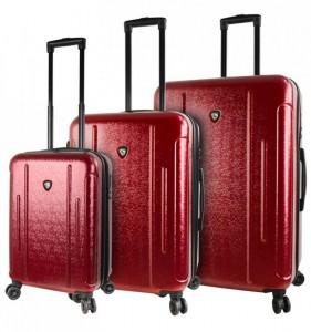 Mia Toro M1239 Manta S/M/L Burgundy sada rozšiřitelných cestovních kufrů TSA 57/67/77 cm