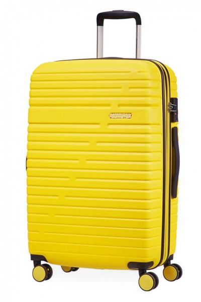 American Tourister Cestovní kufr Aero Racer EXP 61G 66,5/75,5 l – žlutá