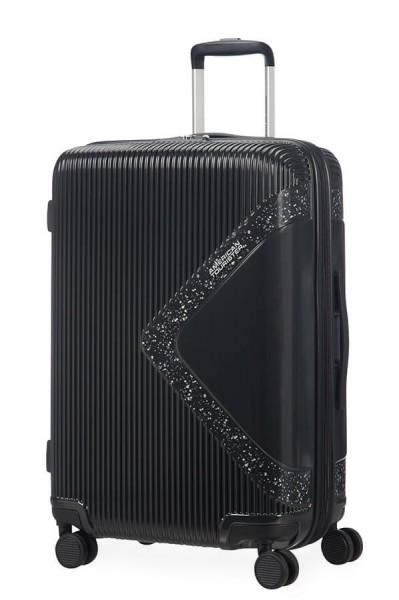 American Tourister Cestovní kufr Modern Dream EXP 55G 70/81 l – lesklá černá