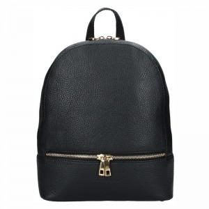 Dámský kožený batoh Facebag Paloma – černá