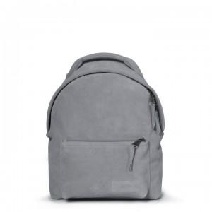 EASTPAK Městský kožený batoh Orbit Sleek'r Suede Grey 11 l