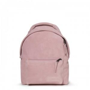 EASTPAK Dámský kožený batoh Orbit Sleek´r Suede Pink 11 l
