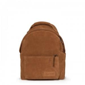 EASTPAK Městský kožený batoh Orbit Sleek´r Suede Rust 11 l