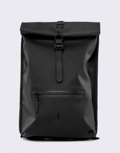 Batoh Rains Roll Top Rucksack 01 Black