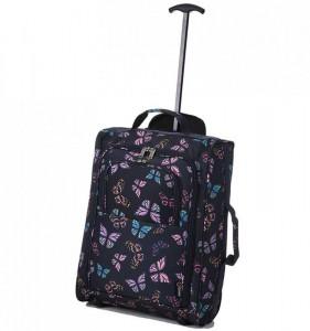 5 Cities T-830 2w S Butterfly palubní kufr na 2 kolečkách 55x35x19 cm 1,65 kg