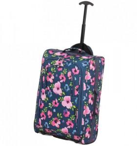 5 Cities T-830 2w S Floral palubní kufr na 2 kolečkách 55x35x19 cm 1,65 kg