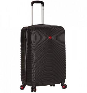Azure Sirocco T-1157 S Black skořepinový palubní kufr na 4 kolečkách TSA 56x38x22 cm černý