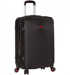 Azure Sirocco T-1157 M Black skořepinový cestovní kufr na 4 kolečkách TSA 67 cm černý