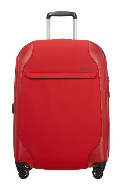 American Tourister Cestovní kufr Skyglider EXP 57G 74/82,5 l – červená