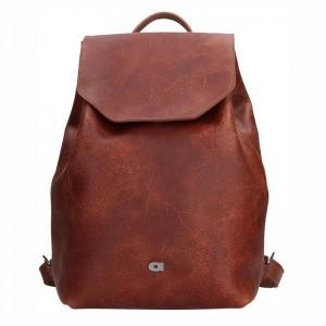 Dámský kožený batoh Daag Fanky GO! 26 – hnědá