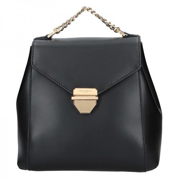 Elegantní dámský kožený batoh Hexagona Reina – černá