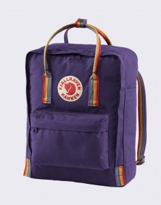 Batoh Fjällräven Kanken Rainbow 580/907 Purple Rainbow Pattern