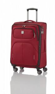 Titan Nonstop 4w M Red textilní cestovní kufr na 4 kolečkách TSA 68 cm 74-85 l