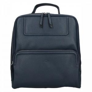 Dámský kožený batoh Katana Radka – modrá