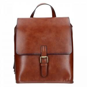 Elegantní dámský kožený batoh Katana Petra – hnědá