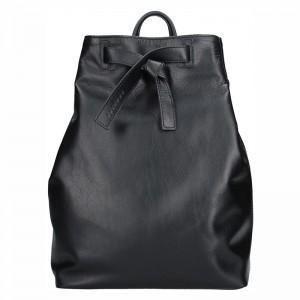 Dámský kožený batoh Facebag Elma – černá