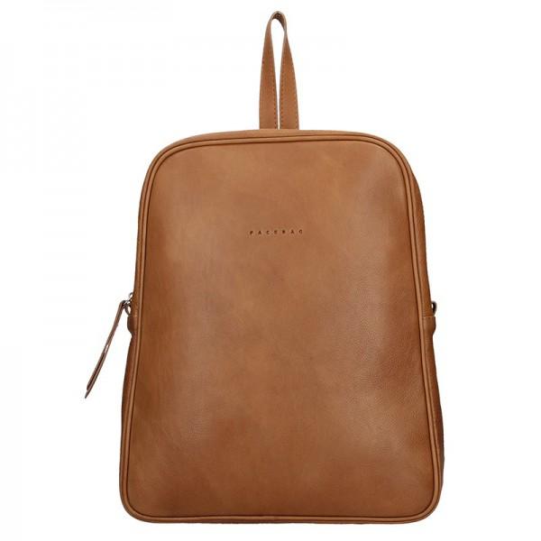Dámský kožený batoh Facebag Linad – hnědá