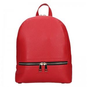 Dámský kožený batoh Facebag Paloma – červená