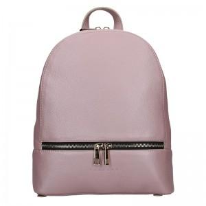 Dámský kožený batoh Facebag Paloma – růžová